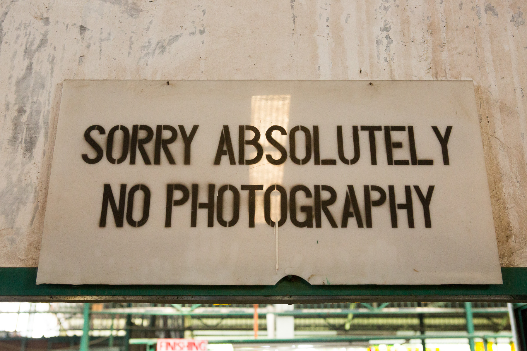 """Sorry, absolutely no photography"""